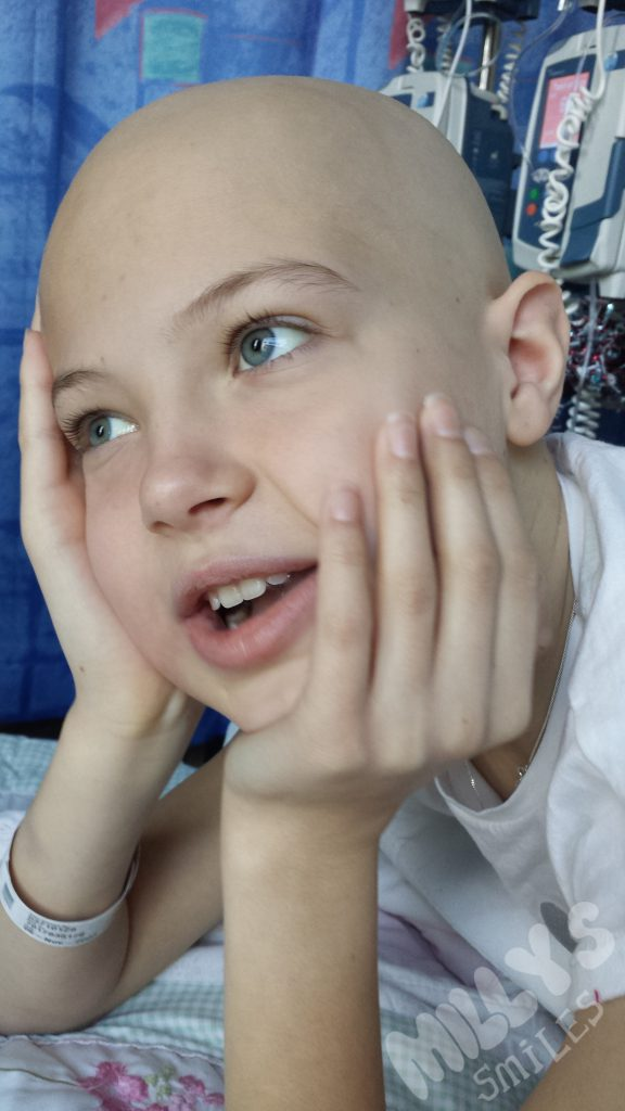 Had a gruelling 2nd round of chemo but bounced back with a beautiful smile | Millys Smiles
