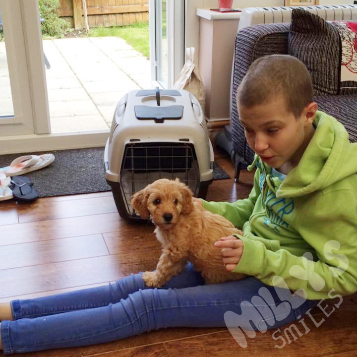 Milly got her wish to have a puppy of her own | Millys Smiles