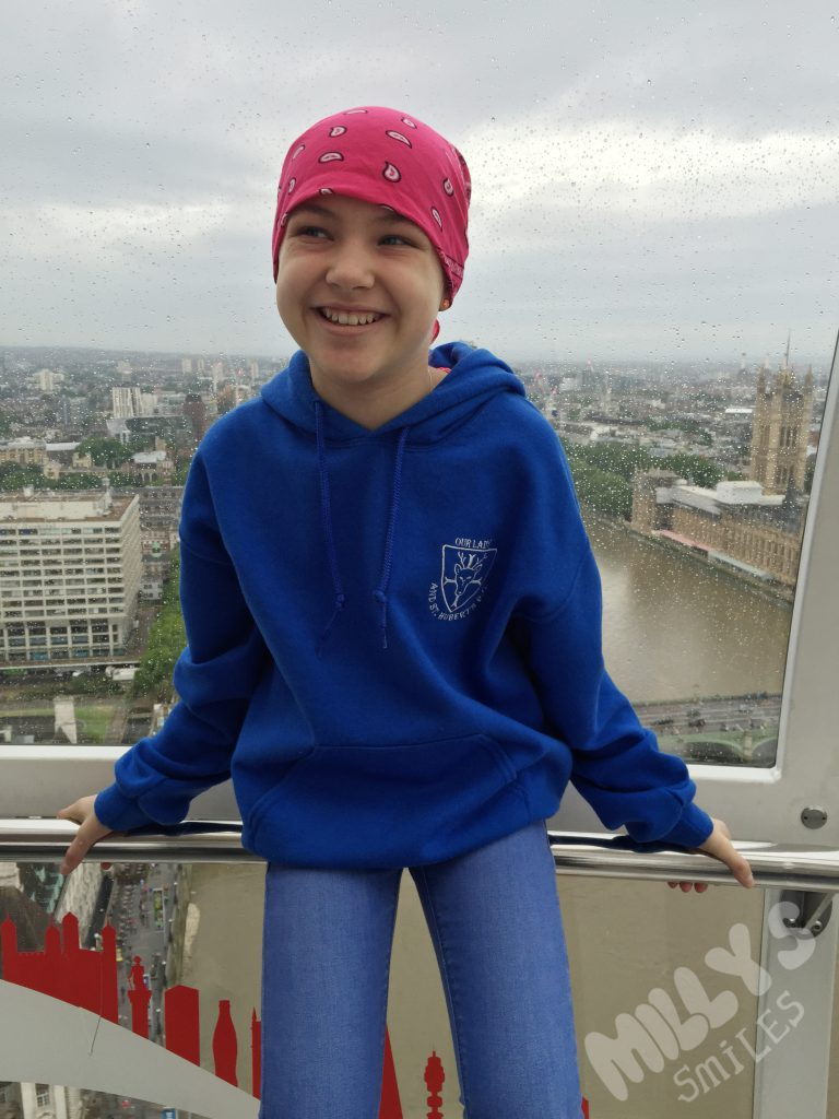 Trip to London after finding out the leukaemia was back | Millys Smiles